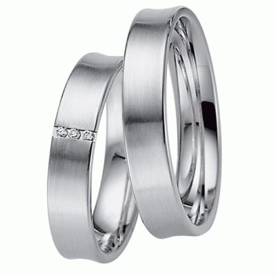 [Цена за 2 кольца]Матовые обручальные кольца из белого золота с бриллиантами