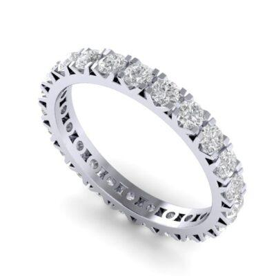 Обручальное кольцо из платины с бриллиантами по кругу . Арт 7025