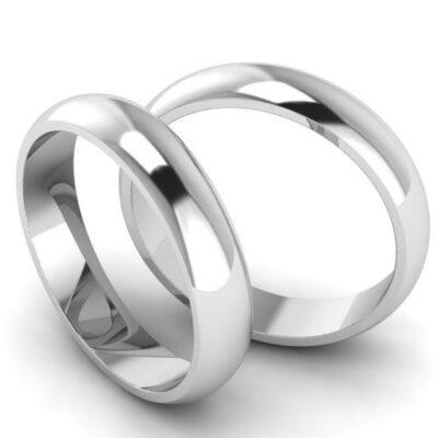 Классические обручальные кольца шириной 4 мм арт 7073