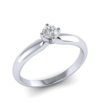 Помолвочное кольцо с бриллиантом  3. 5 мм  арт 7289