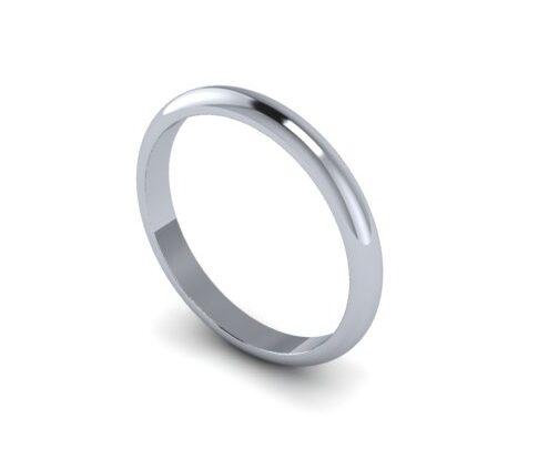 Платиновое обручальное кольцо 2.5 мм  арт 7242